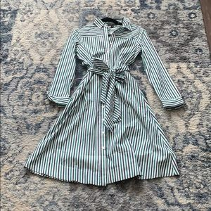 NWT J Crew Striped Shirtdress